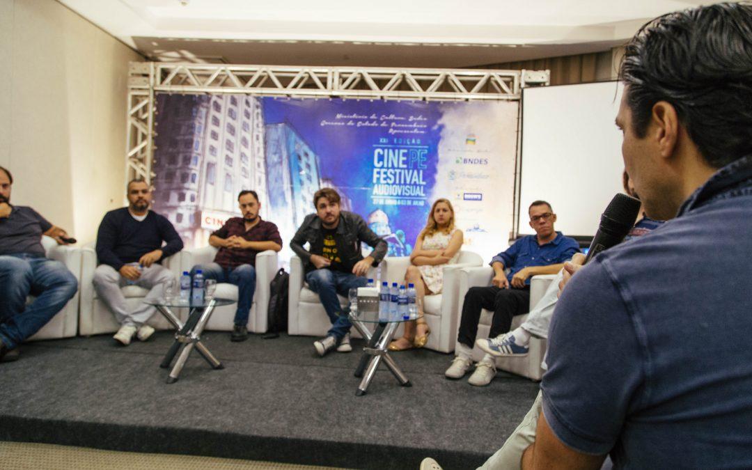 Entrevista coletiva aborda processo criativo de curtas-metragens do segundo dia do CINE PE
